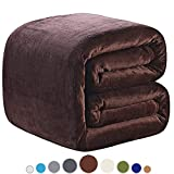 Extra Long King Size Blankets Richave Fleece Blanket King Size 350GSM Lightweight Throw for The Bed Warm Sofa Blanket 90