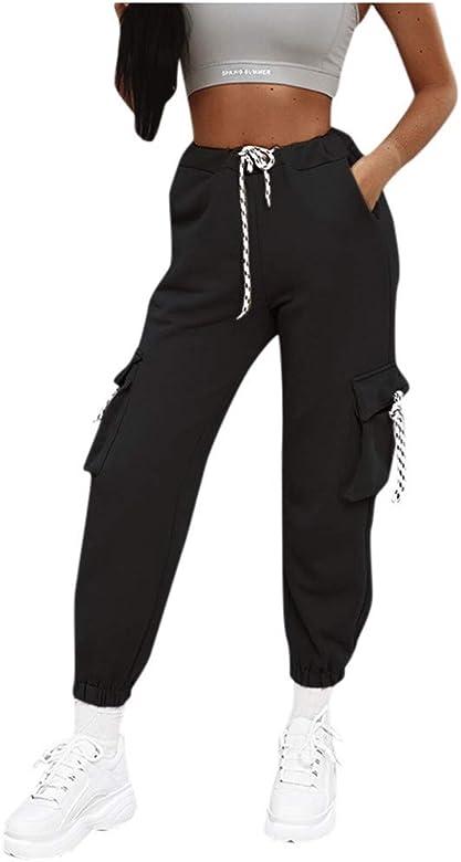 Pantalones Cargo Mujer, Harem Pantalones Casual Cargo Ocho ...
