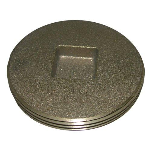 Plug 0.5 Cleanout (LASCO 33-3200 Countersunk Square Head Light Brass Cleanout Plug, 1 1/2-Inch)
