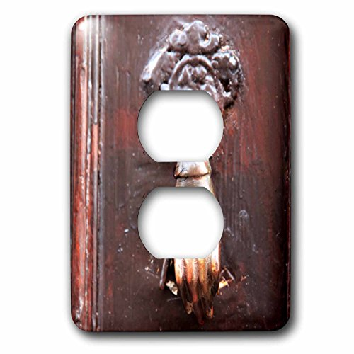 3dRose Danita Delimont - Doors - Turkey, Anatolia, Aspendos, hand of Fatima door knocker. - Light Switch Covers - 2 plug outlet cover (lsp_277013_6) by 3dRose