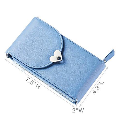 para Bolso de S Piel al mujer hombro Sintética Uniuooi Azul TPnBx7YP