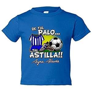 Camiseta niño De tal palo tal astilla Alaves fútbol - Azul Royal, 3-4 años