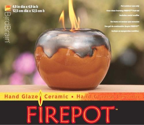 Loki Firepot Honey Metallic By Bird Brai - Bird Brain Ceramic Firepot Shopping Results
