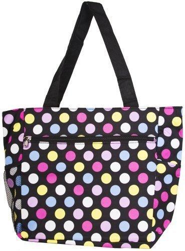 Colorful Polka Dots 18-inch Travel Tote Bag