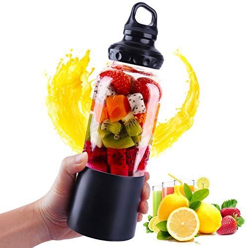 AUTOPDR Ultra sharp Portable blender,500ML/16.9OZ USB Electric Safety Juicer Kitchen Blenders 4000mAH Fruit Smoothie Juice Personal Mixer - Outdoor Travel Camping or Home Office