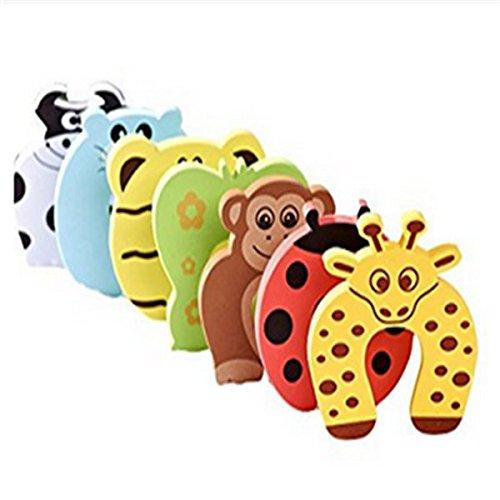 homiki 6 Pcs Animal Designs Amortisseur de Porte en Mousse Protecteur Anti pincement de Doigts pour Bébés Enfants PG