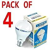 10w OREVA COOL WHITE LED BULB LAMP WITH SENSOR AUTO ON-OFF B22D (Pack of 4)