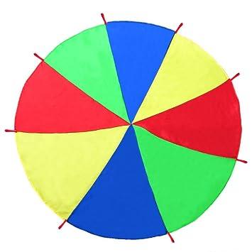 OurWarm juego de paracaídas para niños con 8 asas actividades en interior o al aire libre fiesta en jardín tiendas de campaña, 2m: Amazon.es: Hogar