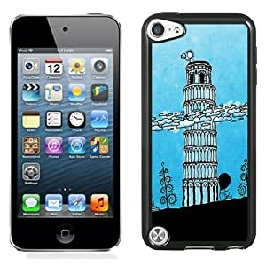 New Personalized Custom Designed For iPod Touch 5th Phone Case For Cartoon Leaning Tower of Pisa Phone Case Cover