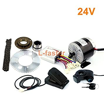 24V36V 350W Motor Kit Electric Gokart Engine System With Gas Pedal ...