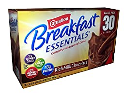 Carnation Breakfast Essentials Complete Nutritional Drink Rich Milk Chocolate - 30 Servings