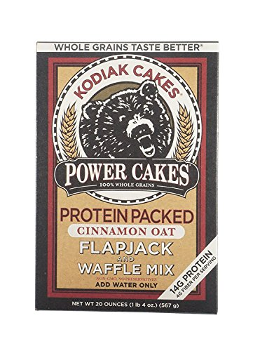 NEW Kodiak Cakes Cinnamon Oat Protein Packed All Natural, Non GMO Protein Pancake, Flapjack and Waffle Mix, 20 ounce by Kodiak Cakes