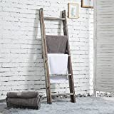 MyGift 4.5-Foot Wall-Leaning Ladder-Style Torched