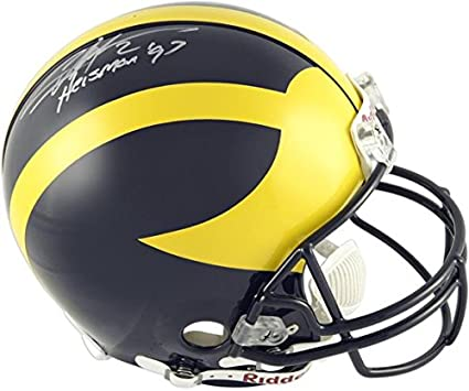 Charles Woodson Michigan Wolverines Autographed Riddell Full-Size Helmet  with   Heisman 97  861b05754