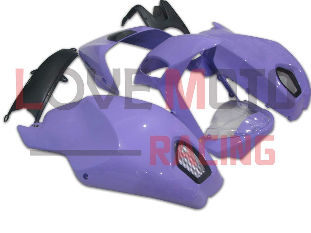 LoveMoto ブルー/イエローフェアリング デュカティ ducati 696 796 795 M1000 M1100 09 10 11 2009 2010 2011 ABS射出成型プラスチックオートバイフェアリングセットのキット パープル   B07KQ55QY7