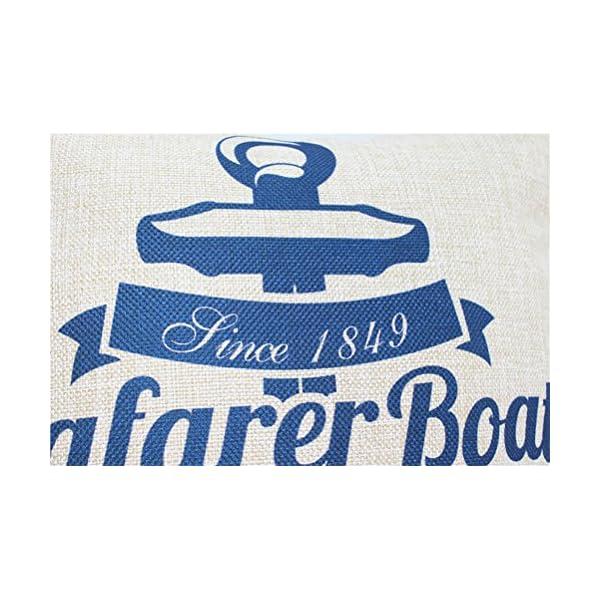 Quadrato blu mare stampato cuscino Chezmax Linen throw Pillow case Sham Slipover Pillowslip federa per la casa divano… 3 spesavip