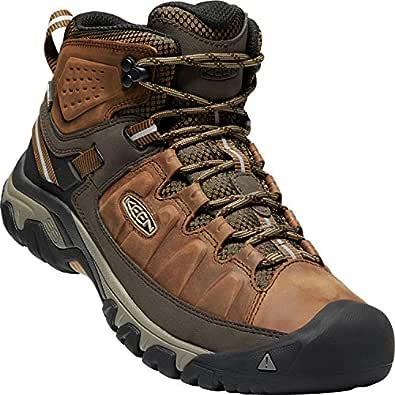 KEEN Shoes Men's Targhee III Mid WP Shoes, Big Ben and Golden Brown, 9 AU