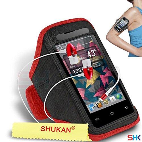 MICROMAX A87 Ninja 4,0 RED + auricular brazalete ajustable ...