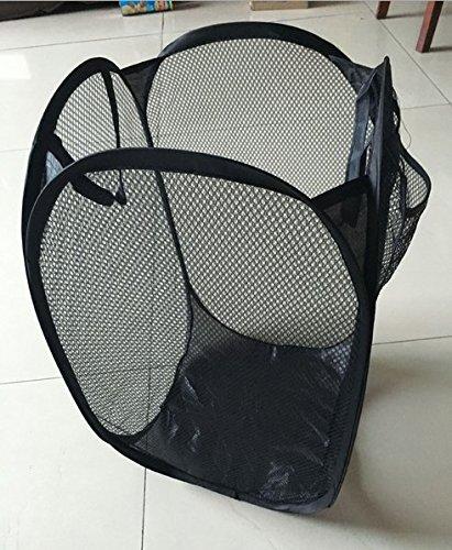 ANKKO Haushalt Faltbare Wäschekörbe (Schwarz)