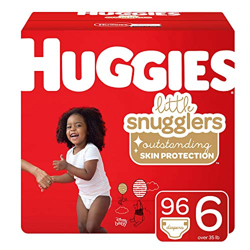 Huggies Little Snugglers Baby Diapers, Size 6, 96 Count