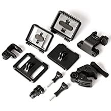 ASOCEA Sportsman Mount Kit, Universal Gun Rifle Barrel Rail/Fishing Rod/Bow Fixing Clip Clamp Mount Set for GoPro HERO4 Session HERO+ LCD HERO4 Silver HERO 4 3 2 1 Cameras