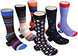Marino Mens Dress Socks - Fun Colorful Socks for Men - Cotton Funky Socks - 6 Pack - Exclusive Collection - 10-13