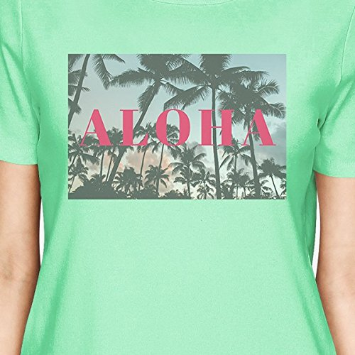 una Mint mujer Camiseta de Aloha talla para Shirt 365 corta manga Printing Hngwvaqa0