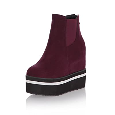 a5b152b8e072 AdeeSu Womens Fashion Round-Toe Slip-Resistant Comfort Suede Boots SXC01703