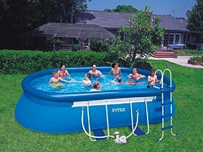 oval frame pool 610x366x122 intex 57982 nutzungsdauer 8 wochen m glich. Black Bedroom Furniture Sets. Home Design Ideas