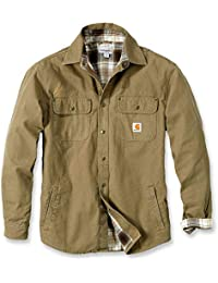 Men's Weathered Canvas Snap Front Shirt Jacket