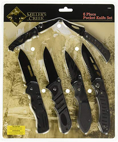 Miller's Creek 13002 6 Piece Pocket Knife Set