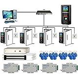 4 Doors Bio Fingerprint + RFID +PIN Time Attendance System Kits Mag Lock 110-