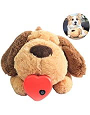 wentgo Pet Plush Toys Super Cuddly Snuggle Plush Toy Puppy Behavioral Training Aid Toy Heartbeat Dog Toy for Rebuild Intimacy, Reduce Pets Tension Anxiety