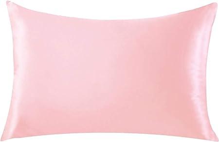 Silk Pillow Case for Hair /& Facial Skin to prevent wrinkles Hidden Zipper white