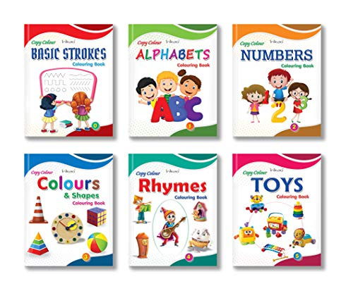 Copy Color Colouring Books for Early Learning by InIkao (6 Books)