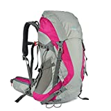 Tofine External Frame Backpack Waterproof All Purpose Survival Backpacking with Lightweight Rain Cover Dry Bag 48 Liter