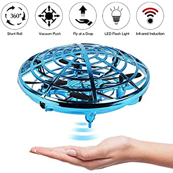 Black, one Size Pantaya Most Tricked-Out Flying Spinner Toys Drones for Kids /& Adults,USB Charging Mini UFO with 360/° Rotating and Shinning RGB LED Lights