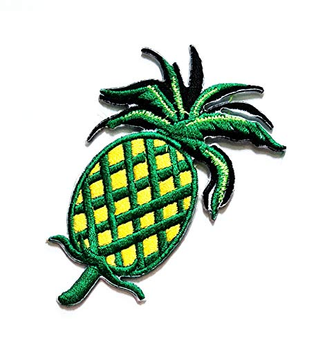 """3.5"""" X 2.4"""" Sweet Green Pineapple Fruit Fashion Cartoon Kids Logo Jacket t-Shirt Jeans Polo Patch Iron on Embroidered Logo Sign Badge Comics Cartoon Patch by Tour les jours Shop"""
