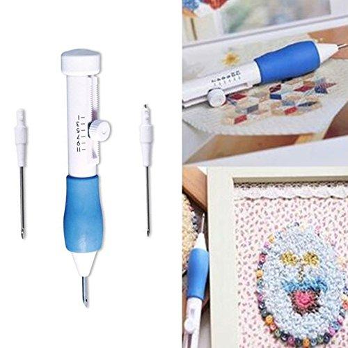 lzndeal 1.3 / 1.6 / 2.2 mm Aiguille magique Ustensiles de Broderie DIY Diamètre Broderie Magic Broderie Stylo Vêtements Punch Needle