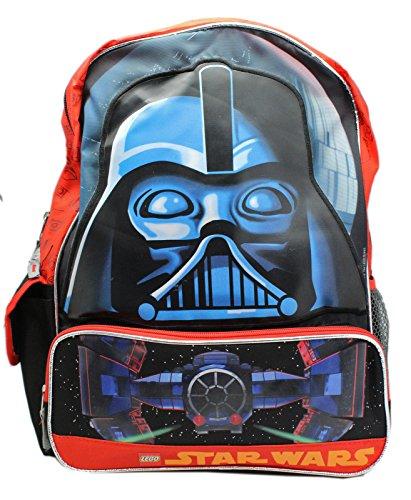 [Lego Star Wars Darth Vader Face Mask Full Size Kids Backpack (16in)] (Darth Vader Mask Off)