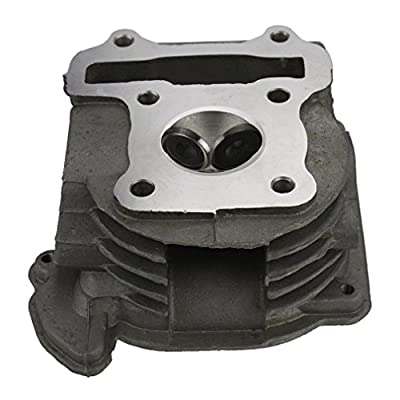 GOOFIT Cylinder Head with Valve for 4 Stroke GY6 49cc 50cc Scooter Moped 139QMA 139QMB Engine Part: Automotive