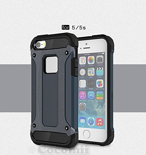 iPhone SE / 5S / 5C / 5 Case, Cocomii Commando Armor NEW [Heavy Duty] Premium Tactical Grip Dustproof Shockproof Hard Bumper Shell [Military Defender] Full Body Dual Layer Rugged Cover Apple (Metal Slate)