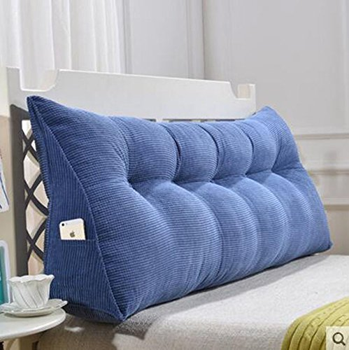 A2 135cm RFJJAL Sofa Cushions, Waist, Headboard, Cushion, Triangle Bed, Pillow, Soft Pack, Sofa, Large Back Cushion, Bed Back, Removable and Washable (color   A1, Size   60cm50  20)