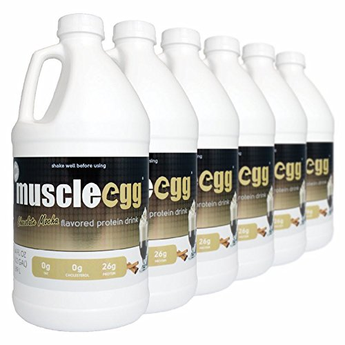 MuscleEgg Chocolate Mocha Liquid Egg Whites Protein - 6 half-gallons by MuscleEgg