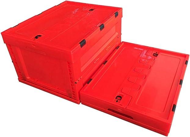 Cubo Pesca Plegable Cubo Lavado Caja Plegable Cesta de la Utilidad Almacenamiento Plástico Cesto Plegable Apilables Cajas Almacenaje Portátil Organizador Del Coche Envase,Rojo: Amazon.es: Hogar