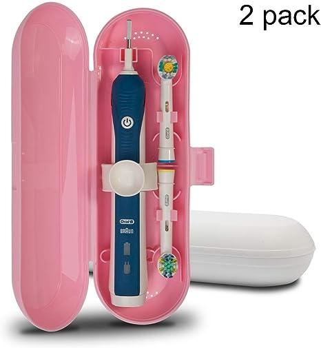 Spazzolino Elettrico Portatile Custodia da viaggio Braun Oral B Testine di ricambio bianco