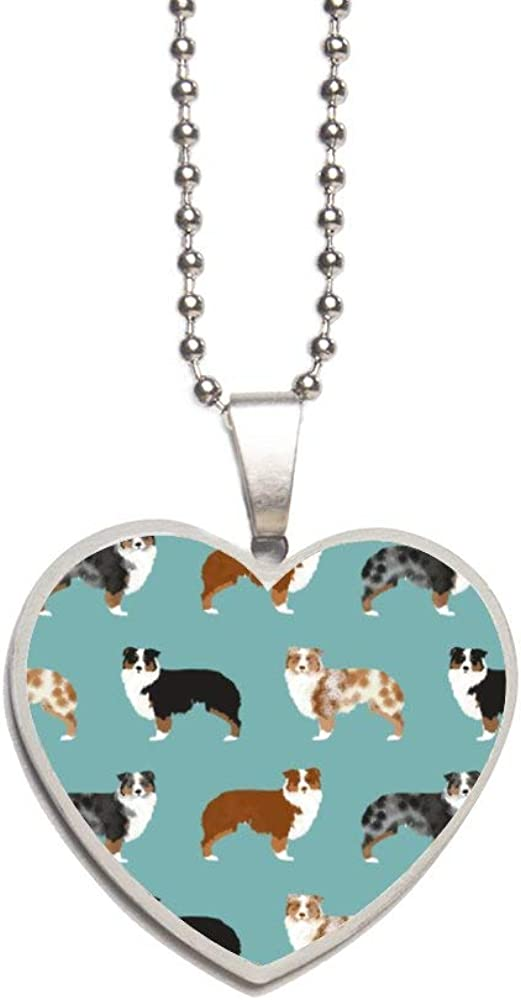 Border Collies Funny Dogs Necklace Personalized Engraved Heart Custom Gift Pendant-Valentines Day Love