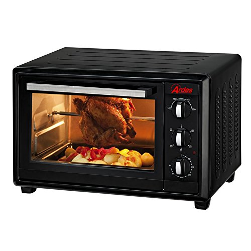 Ardes AR6236 Forno elettrico ventilato con girarrosto, 36L, colore Nero/Argento forno; arrosto; ventilato