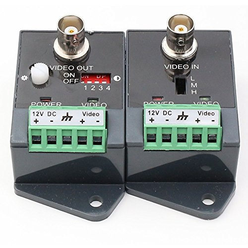 ANHAN Active Video balun UTP Video Transceiver with HD-CVI-TVI-AHD-CVBS Effective Distance 1800M 1 Pack
