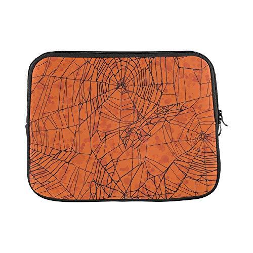 Design Custom Orange Halloween Sleeve Soft Laptop Case